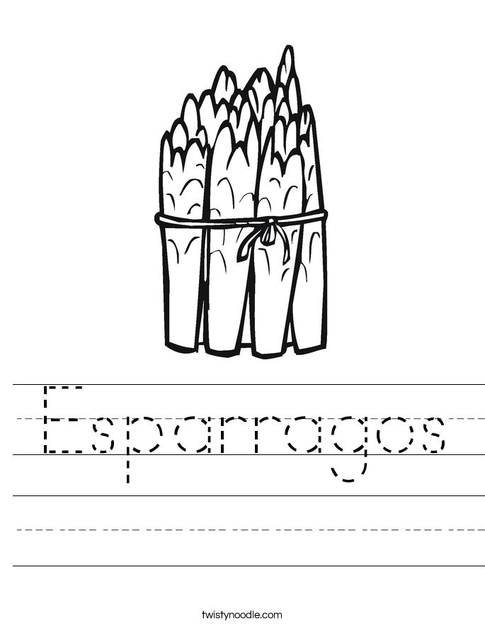 Esparragos Worksheet