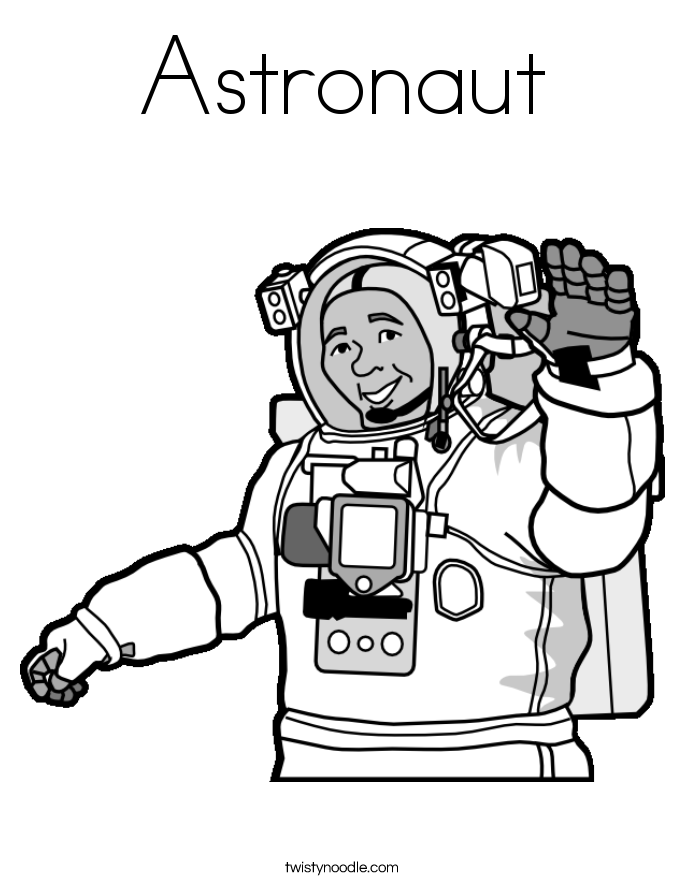 astronaut coloring page - Astronaut Coloring Pages Printable
