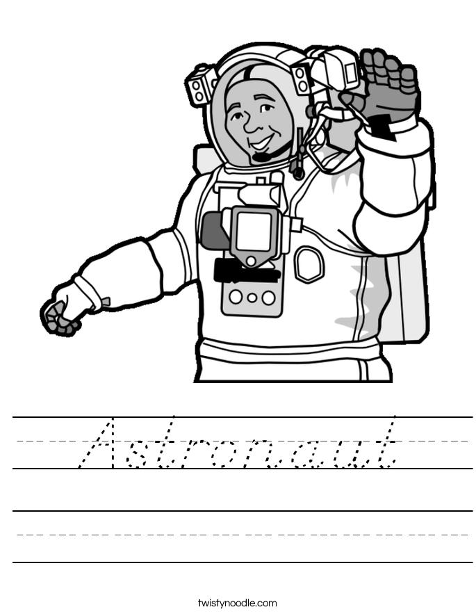 Astronaut Worksheet