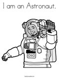 I am an Astronaut. Coloring Page