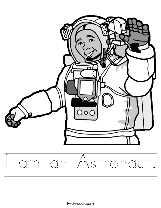 I am an Astronaut. Worksheet