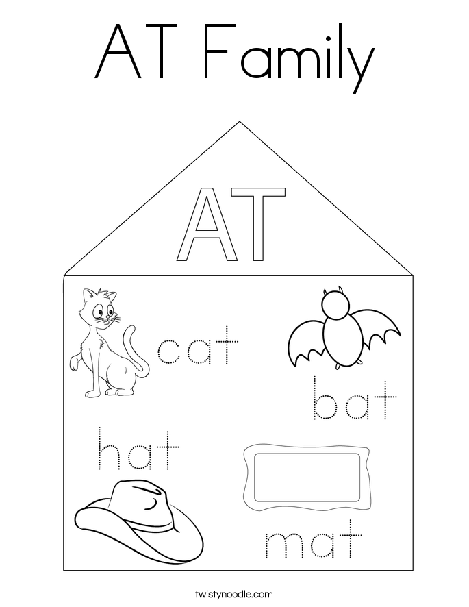 AT Family Coloring Page