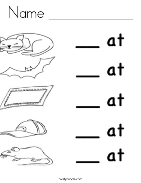 At Words Coloring Page