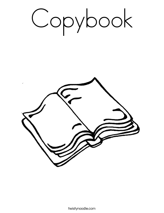 Copybook Coloring Page