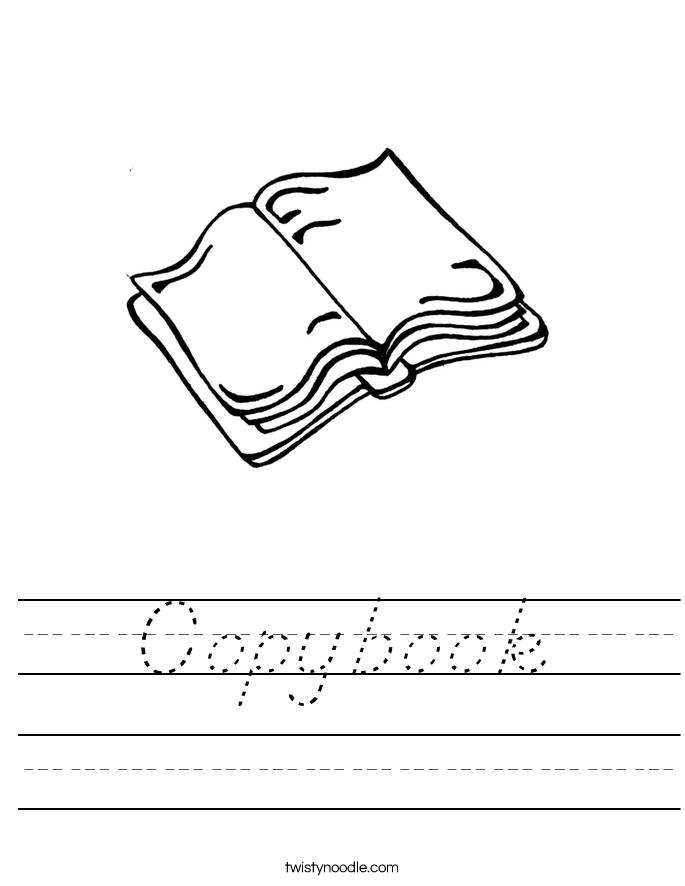 Copybook Worksheet