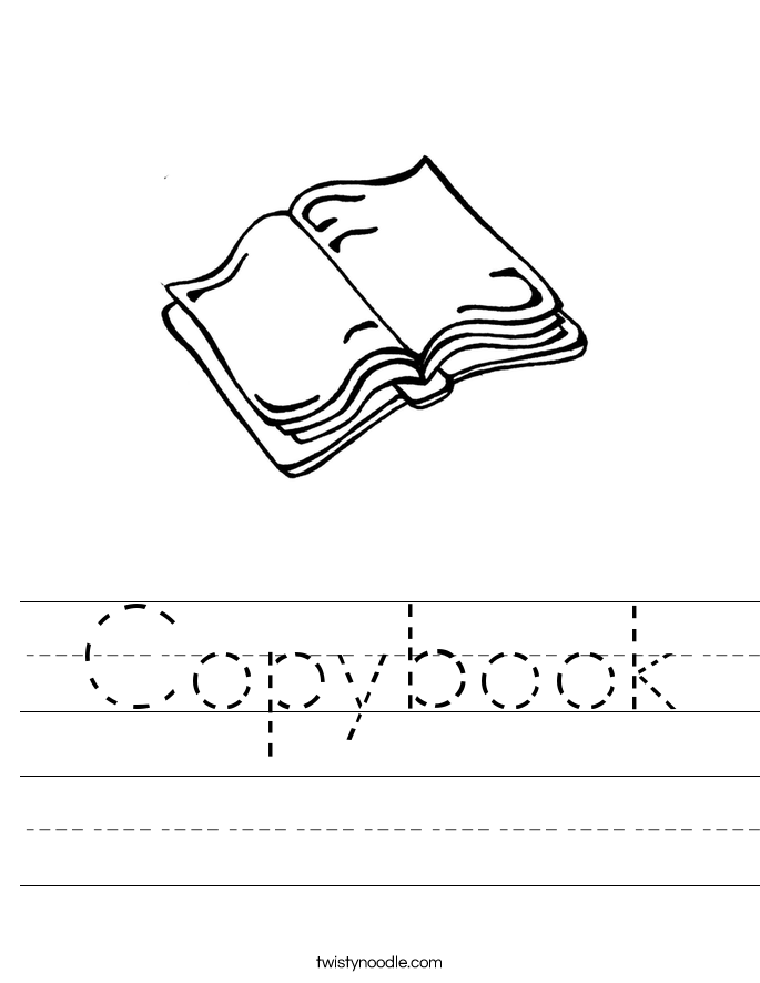 Copybook Worksheet