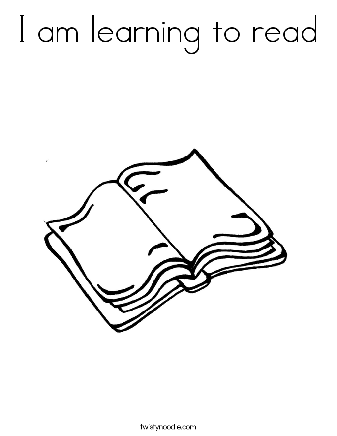 I am learning to read Coloring Page