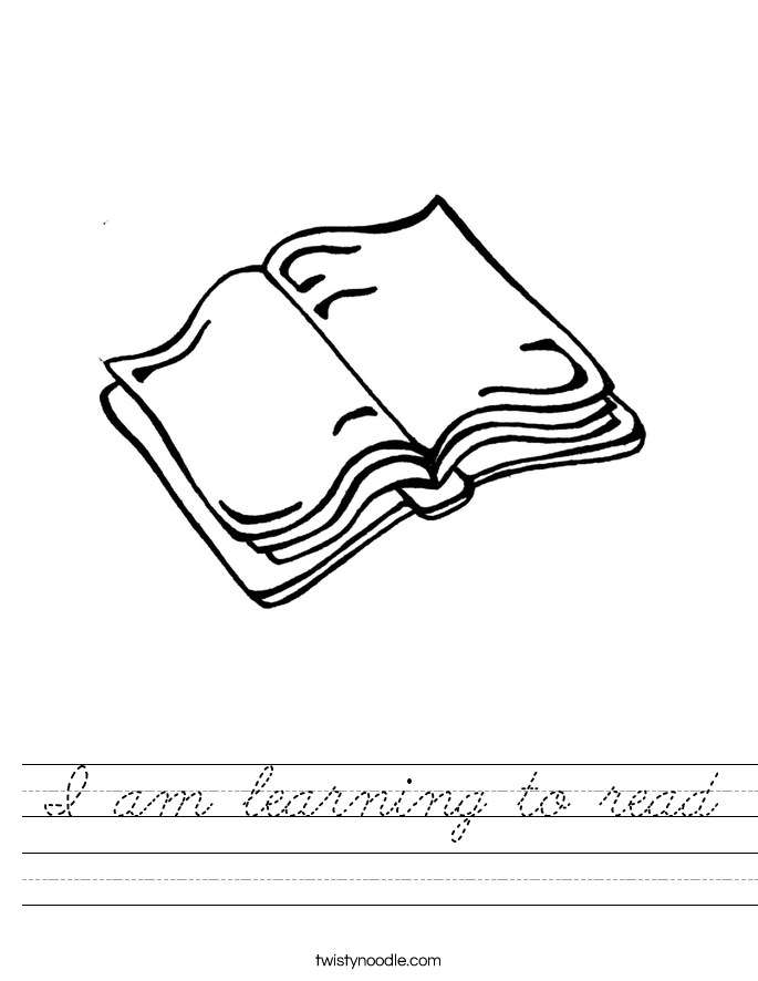 I am learning to read Worksheet