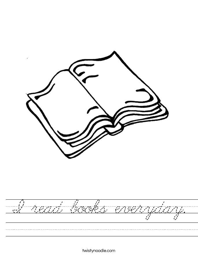 I read books everyday. Worksheet