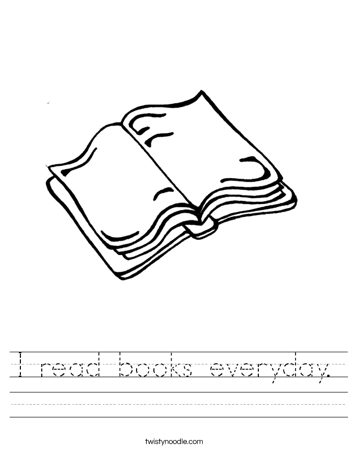 I read books everyday. Worksheet