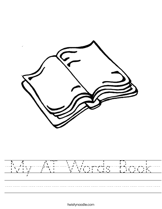 My AT Words Book Worksheet