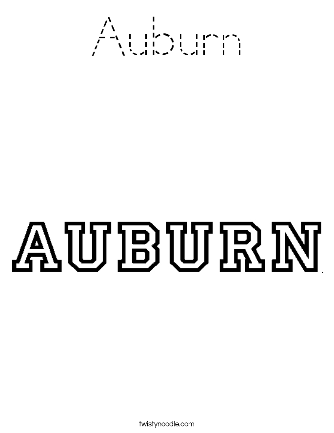 Auburn Coloring Page
