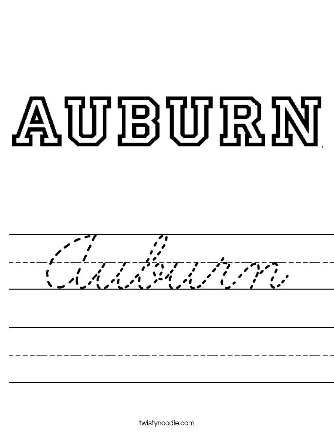 Auburn Worksheet