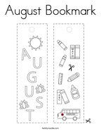 August Bookmark Coloring Page