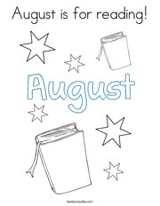 August is for reading Coloring Page