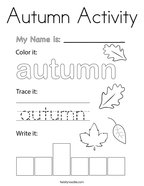 Autumn Activity Coloring Page