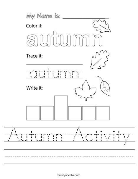 Autumn Activity Worksheet