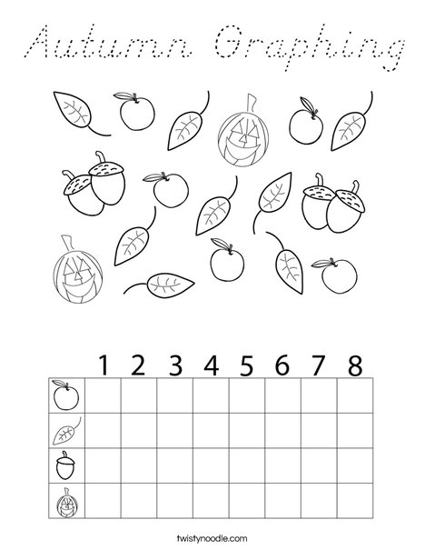 Autumn Graphing Coloring Page