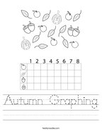 Autumn Graphing Handwriting Sheet