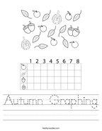Autumn Graphing Handwriting Sheet
