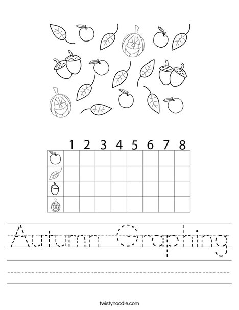Autumn Graphing Worksheet