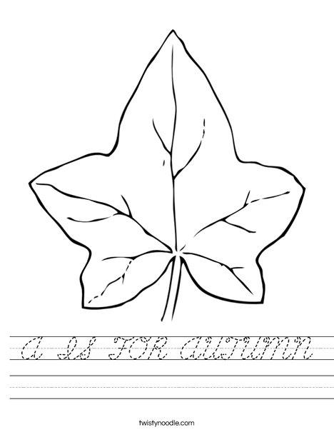 Autumn Leaf Worksheet
