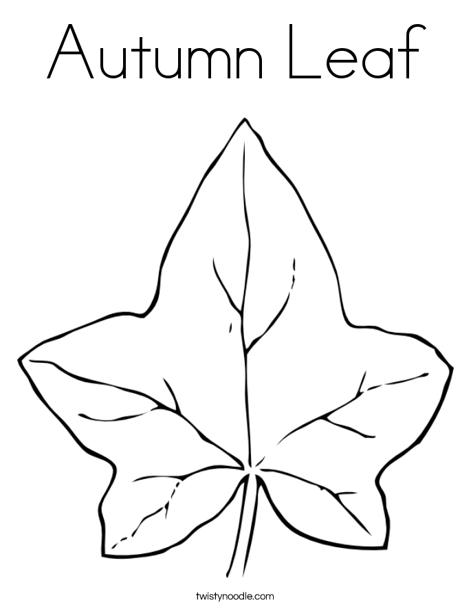 Autumn Leaf Coloring Page.