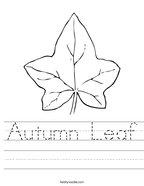 Autumn Leaf Handwriting Sheet