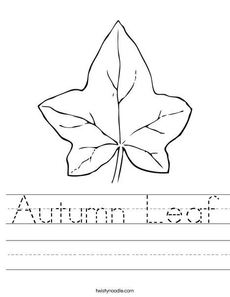 Number Names Worksheets autumn worksheet : Autumn Leaf Worksheet - Twisty Noodle