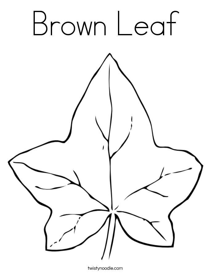 Brown Leaf Coloring Page