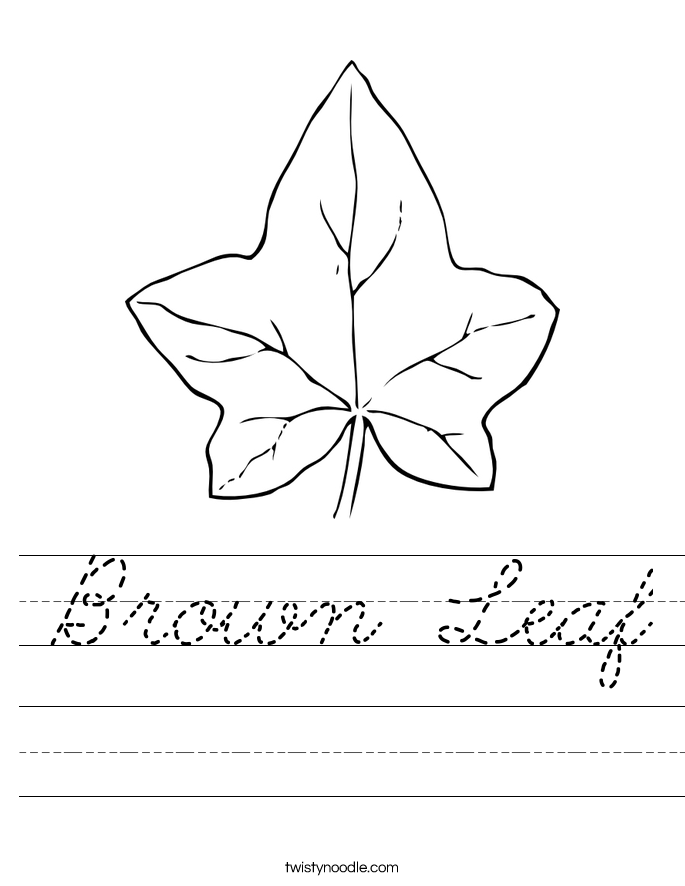 Brown Leaf Worksheet