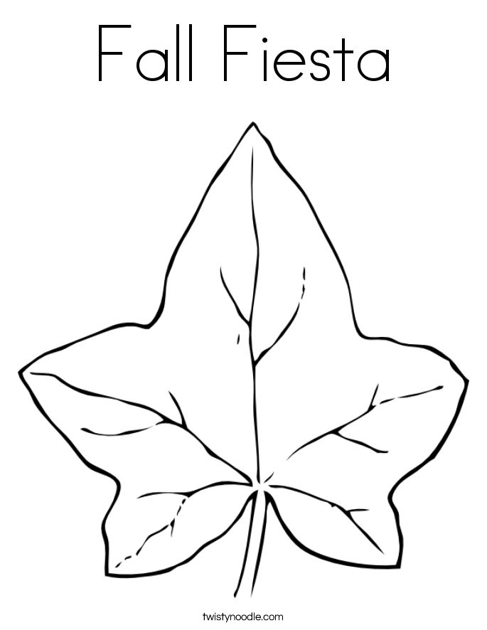 Fall Fiesta Coloring Page