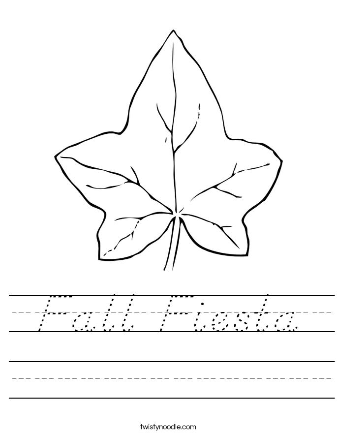Fall Fiesta Worksheet