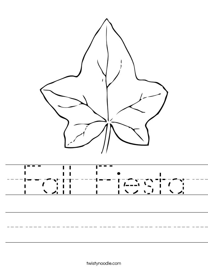 Fall Fiesta Worksheet