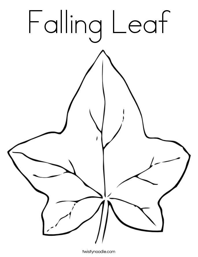 Falling Leaf Coloring Page