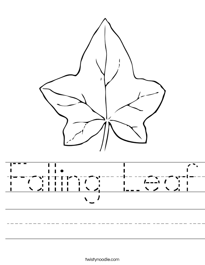 Falling Leaf Worksheet