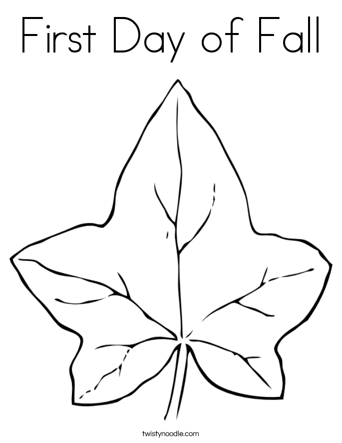 First Day Of Fall Coloring Page