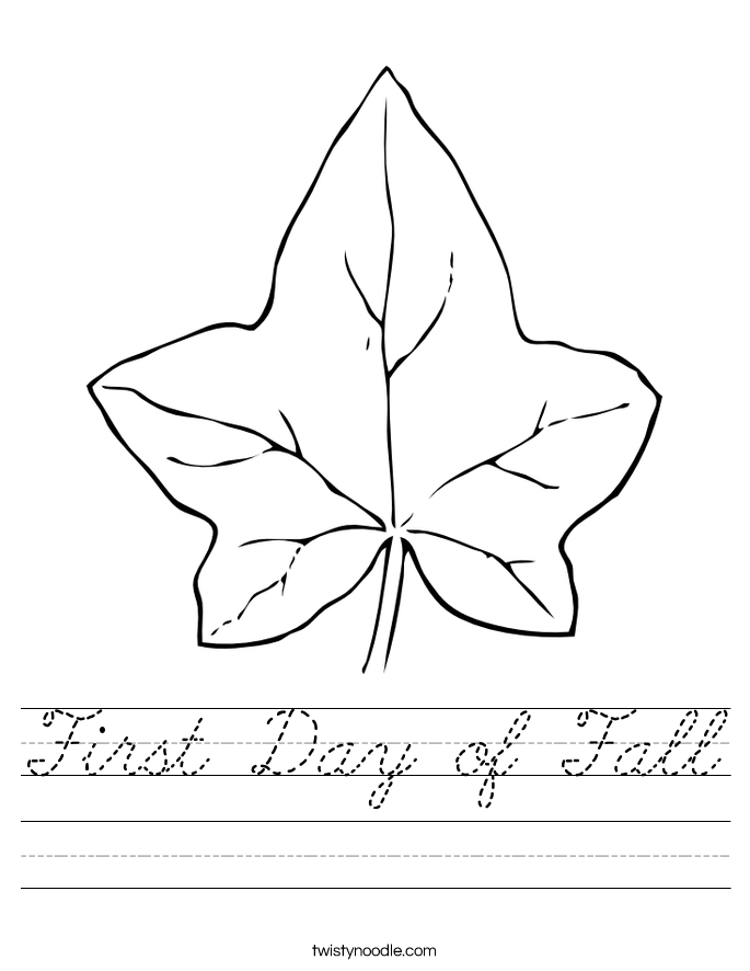First Day of Fall Worksheet
