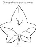 Grandpa has to pick up leaves.Coloring Page