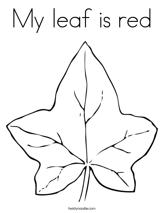 My leaf is red Coloring Page