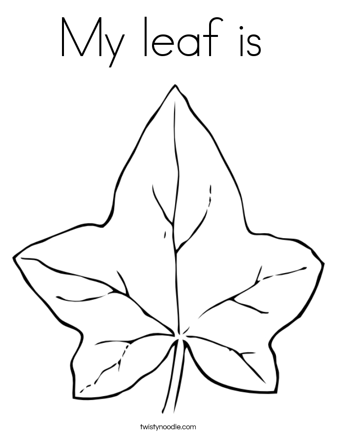 My leaf is  Coloring Page