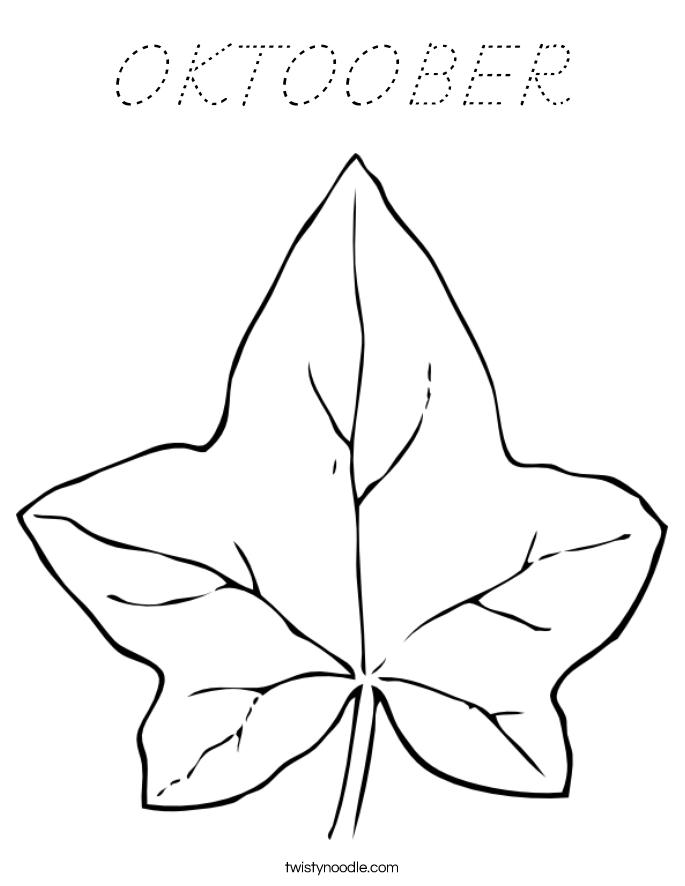 OKTOOBER Coloring Page