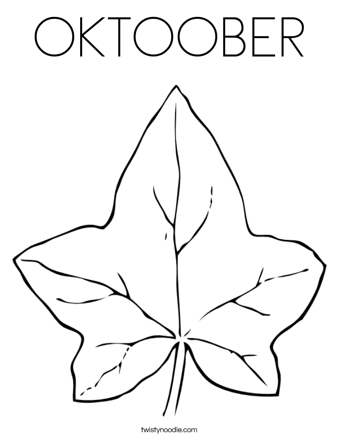 OKTOOBER Coloring Page