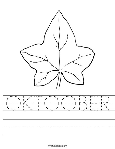 Autumn Leaf Worksheet