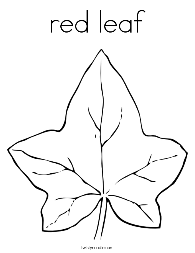 red leaf Coloring Page