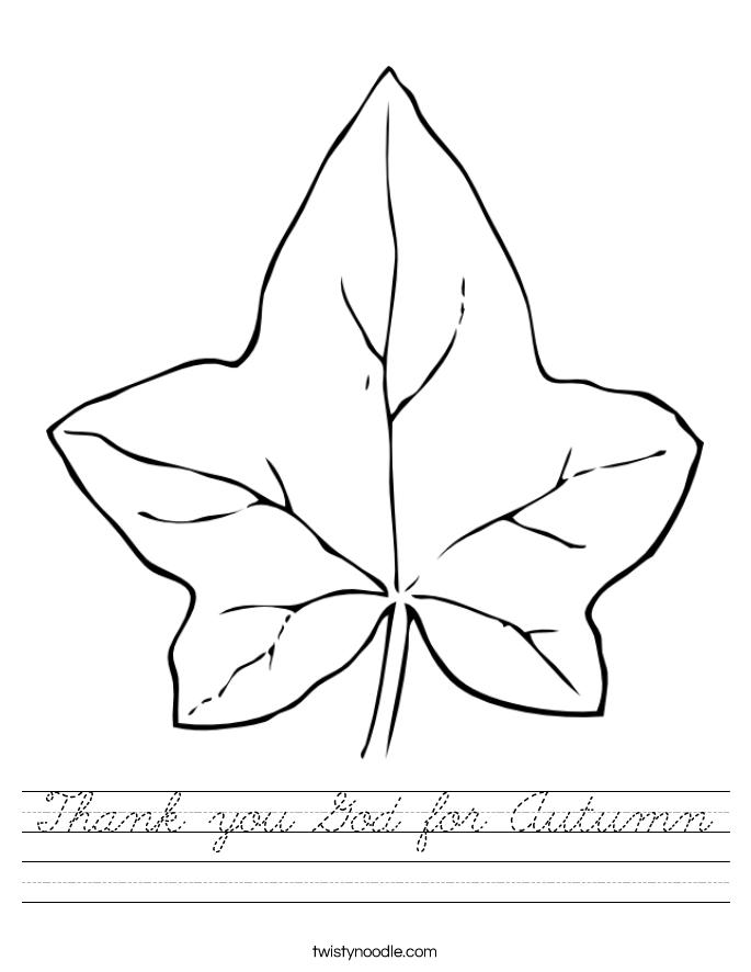 Thank you God for Autumn Worksheet