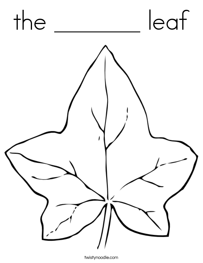 the  leaf Coloring Page  Twisty Noodle