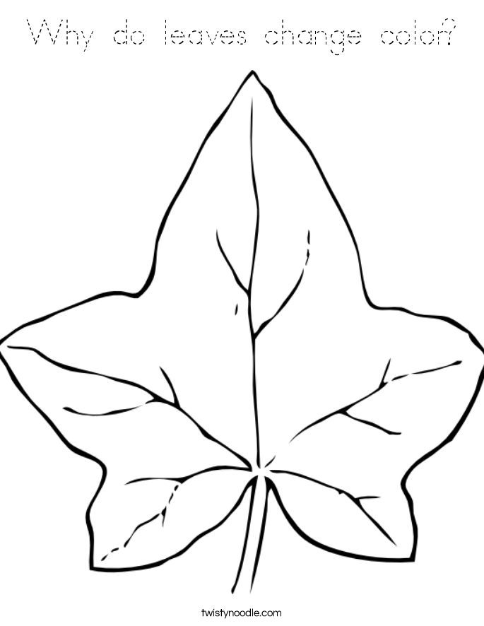 Why do leaves change color coloring page tracing for Change color page