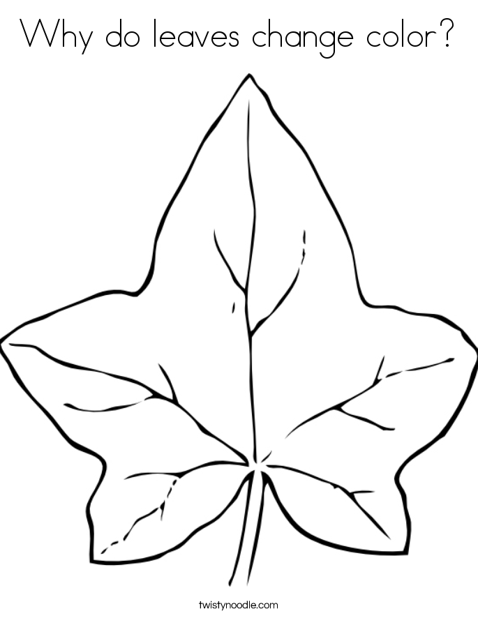 Why do leaves change color? Coloring Page