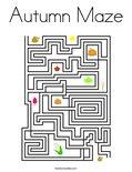 Autumn Maze Coloring Page